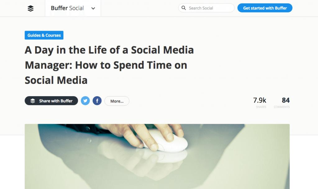 buffer social media manager