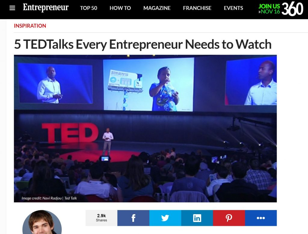 entrepreneur ted talks