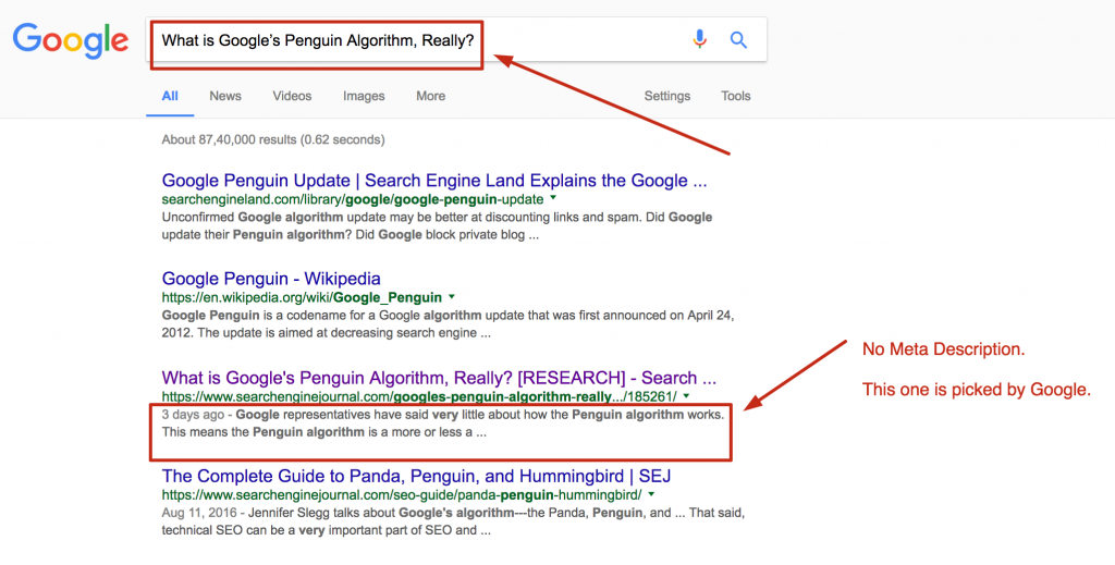 On page search engine ranking factor