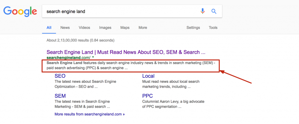 on page search ranking factor -serped.com