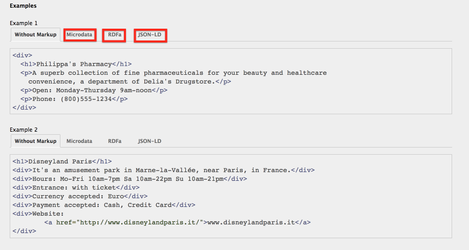 Microdata and jSON-LD - Structured data and Schema Markup