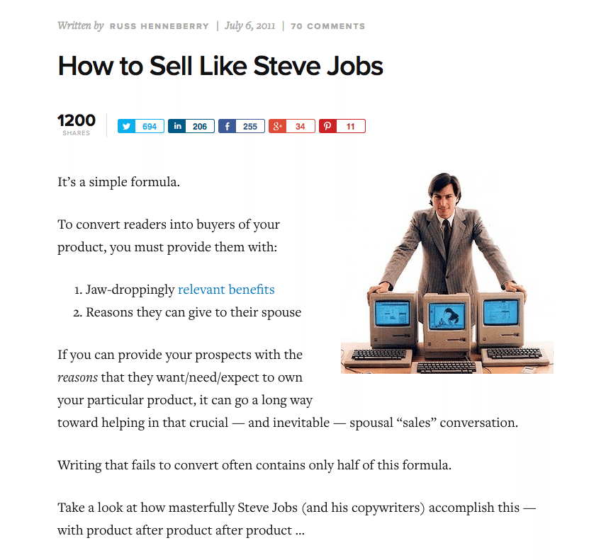 sell like steve jobs