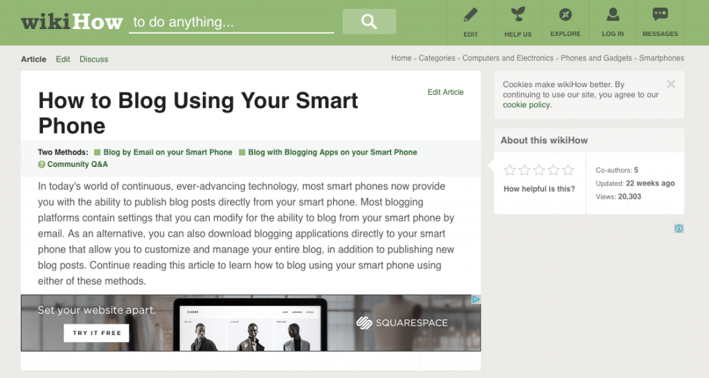 how to blog from your smartphone