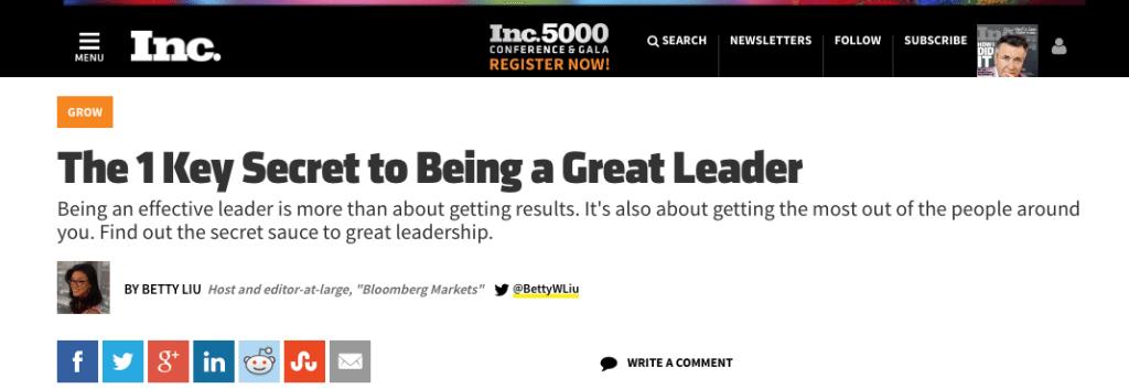 inc great leader