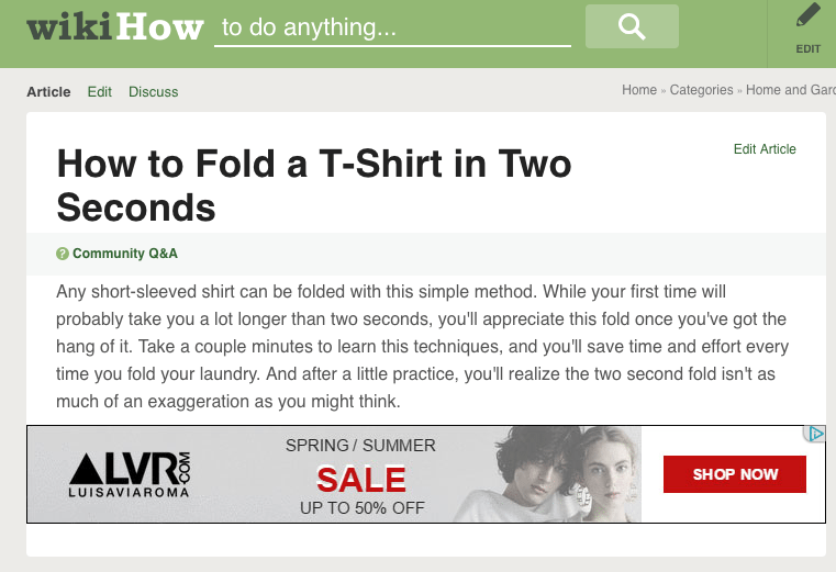 how to fold a tshirt in 2 seconds