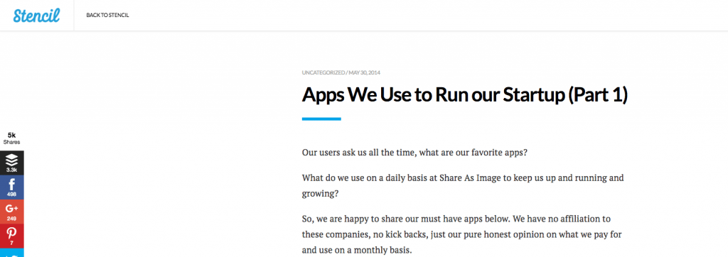 apps we use to run our start up