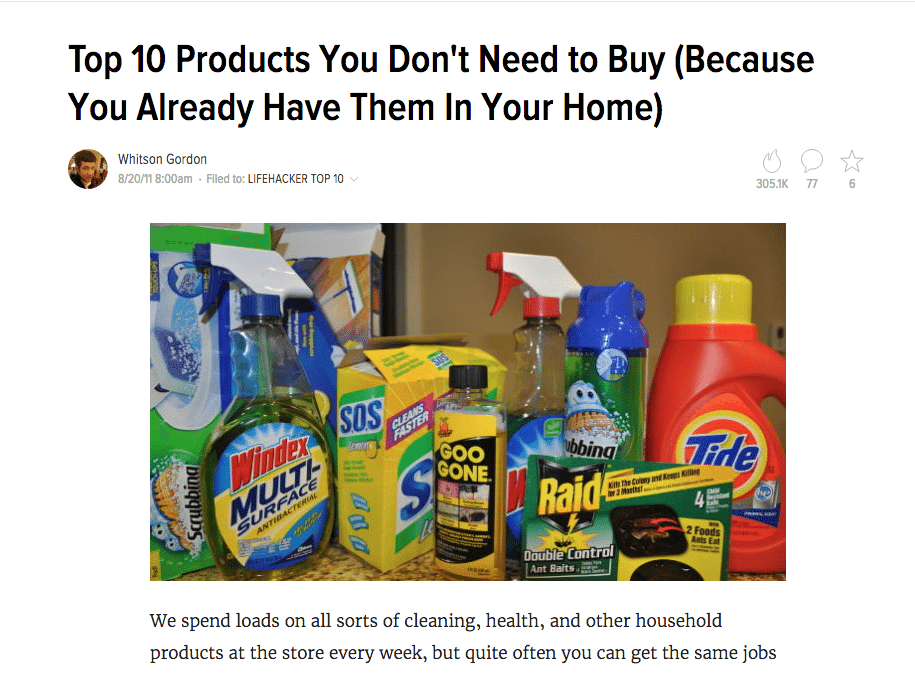 products you dont need