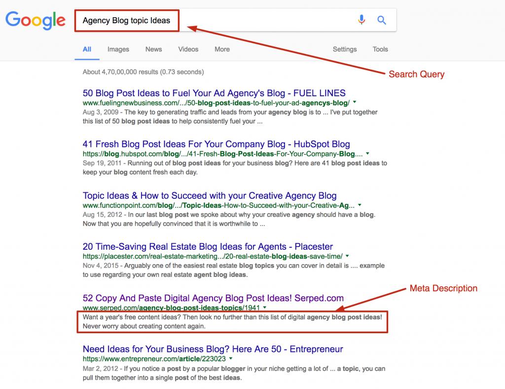 Keyword In Meta Description: on page search engine ranking factors