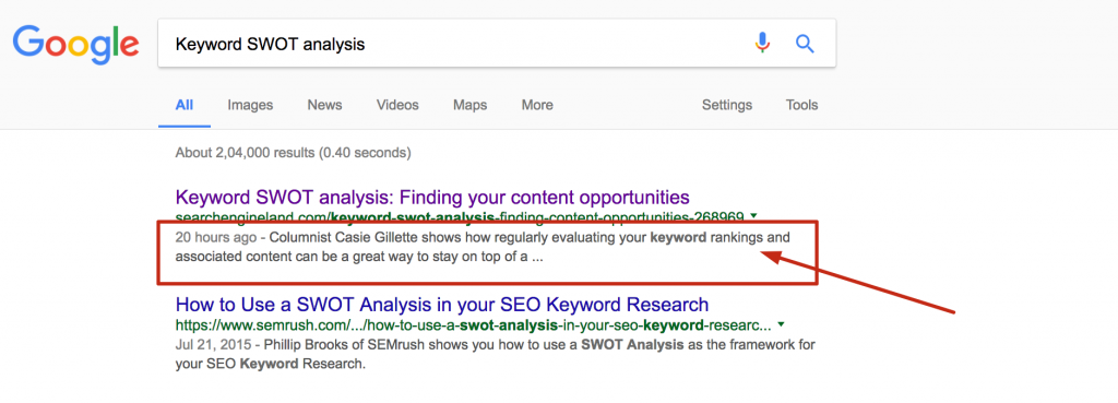 on page search engine factor - serped.com