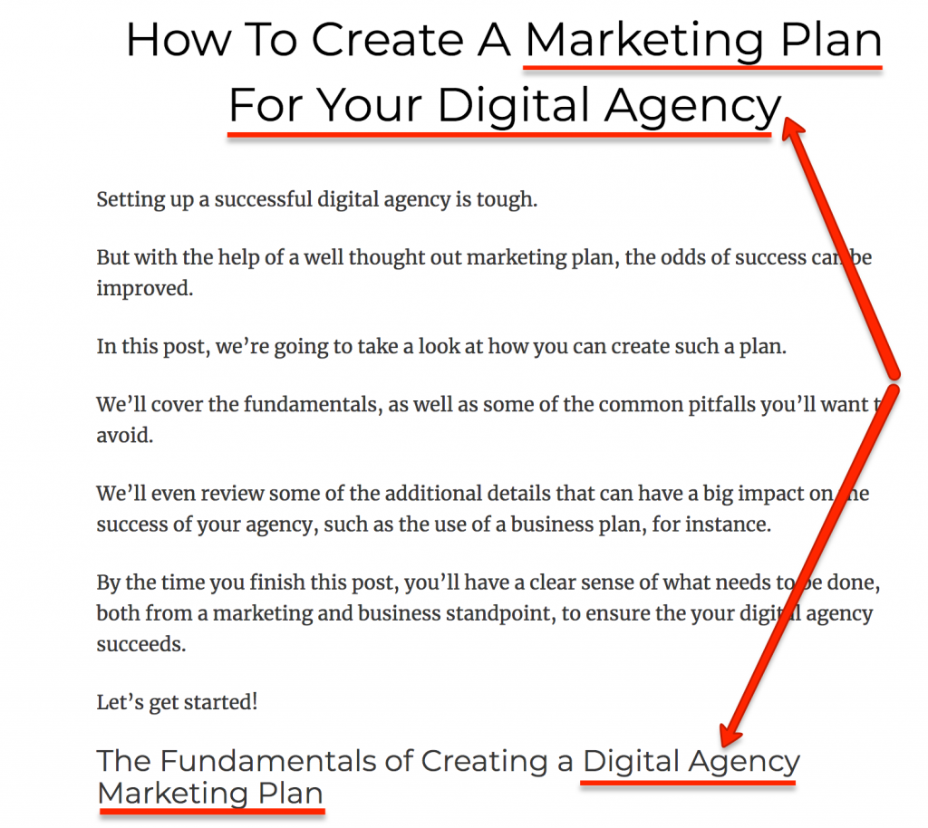 Marketing Plan for digital agency