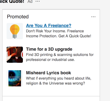 LinkedIn ad Example for SEO agencies