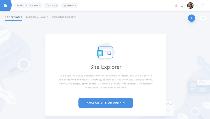 SERPed 3.0 Site Explorer Landing Page