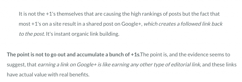Google+ for Link building in SEO