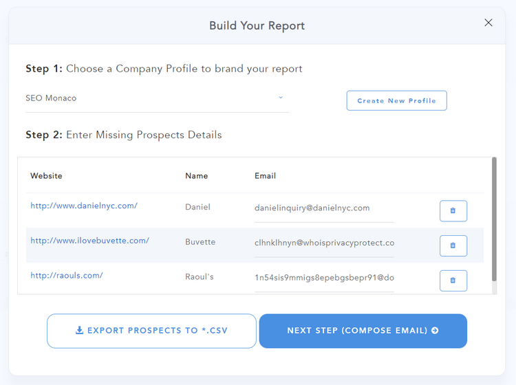 Build Your Report