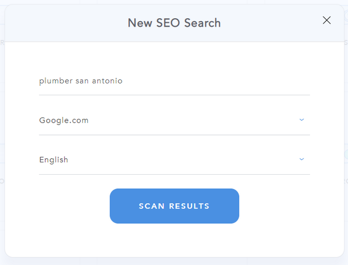 SEO Prospector - Search Form