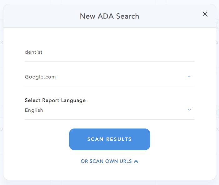 ADA Prospector Form