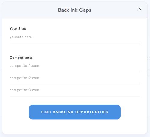 Backlink Gaps Form
