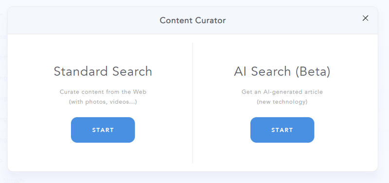 AI Search in Content Curator