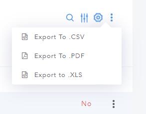 Export Options in Site Explorer